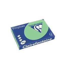 Clairefontaine Papier Clairefontaine Trophée Pastel A3 natuurgroen, 160 g, 250 vel
