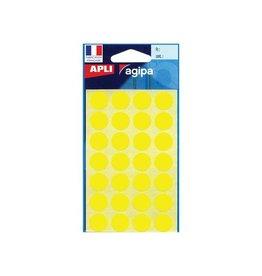 Agipa Agipa ronde etiketten in etui dia. 15mm geel 168st 28 per bl