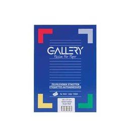 Gallery Gallery witte etik. 105x37 mm rechte hoeken, 1.600 etik.