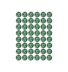Apli Agipa Kortinglabel -20%, groen, 192 stuks, verwijderbaar