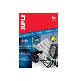 Apli Apli Zilverkleurige etiketten 45, 7x21, 2mm, 960st 48 per bl