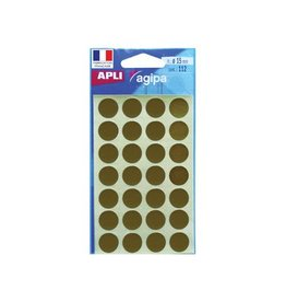 Agipa Agipa ronde etiketten in etui dia. 15mm goud 112s, 28 per bl