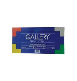 Gallery Gallery enveloppen 114 x 229 mm, stripsluiting, pak van 50st