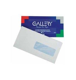 Gallery Gallery enveloppen 114x229mm, venster rechts, gegomd, 50st