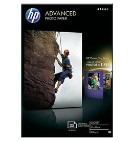 HP Inkjetpapier HP Q8691A Advanced 10x15 Wit Glossy 250gr 25vel