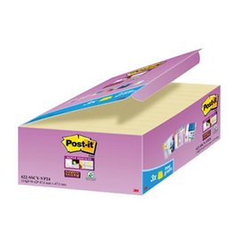 3M Post-it Super Sticky notes, 47,6x47,6mm, geel, 90 vel, 18+6