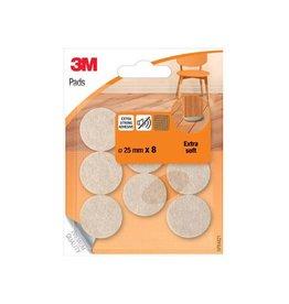 3M 3M beschermende vloerpads, uit vilt, 25mm, blister van 8st