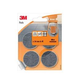 3M 3M beschermende vloerpads, uit vilt, 34mm, blister van 4st