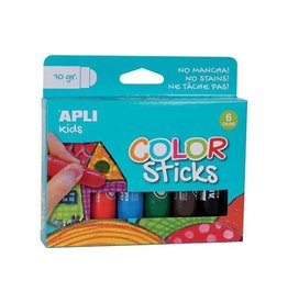 Apli Kids Apli Kids plakkaatverf Color sticks, blister met 6 stuks