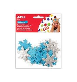 Apli Kids Apli Kids zelfklevende glitter sneeuwvlokken,blister met22st