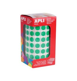 Apli Kids Apli Kids stickers op rol, cirkel diameter 10,5 mm, groen