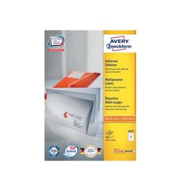 Avery Zweckform Avery witte etik. QuickPeel 105x74 mm 800st, 8 per bl, 100bl