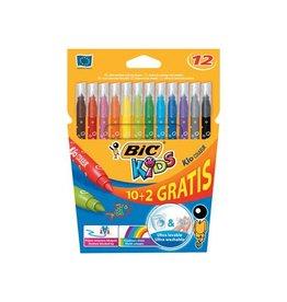 Bic Kids Bic Kids Kid Couleur viltstiften, etui 10 + 2 gratis [25st]