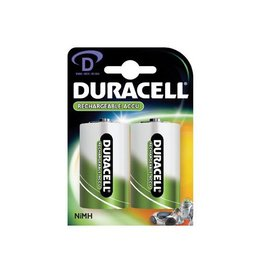 Duracell Duracell oplaadbare batterijen D, blister van 2 stuks