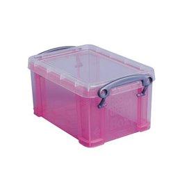 Really Useful Box Really Useful Box 0,7 liter, transparant roze
