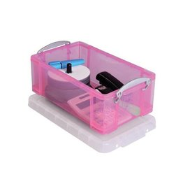 Really Useful Box Really Useful Box 9 liter, transparant roze