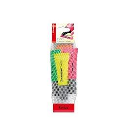 Stabilo Stabilo markeerstiften Neon etui van 4 in geas. kleu [10st]