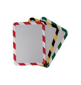 Tarifold Technic Tarifold zelfklevende tas, ft A4, rood/wit, pak van 2 stuks