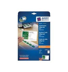 Avery Avery visitekaarten 200g/m²,85x54mm(10 per blad),doos 10blad