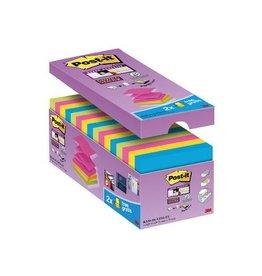 Post-it Post-it Super Sticky Z-Notes 76x76mm assorti 90vel 14+2