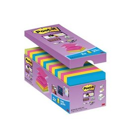 Post-it Post-it Super Sticky Z-Notes, 76x76mm div. kl. 90vel, 12+4