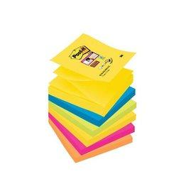 Post-it Post-it Super Sticky Z-Notes Rio 76x76mm  90vel 6 blokken