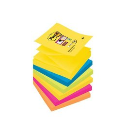 Post-it Post-it Super Sticky Z-Notes Rio, 76x76mm div.kl. 90vel 6bl