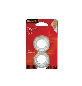 Scotch Scotch Plakband Crystal 19mmx7,5m, 2 rolletjes [12st]