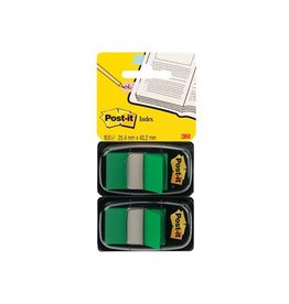 Post-it Post-it Index Standaard, 25,4 x43,2mm, groen,blister van 2st