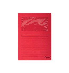 Exacompta Exacompta L-map met venster Forever, pak van 100 stuks, rood