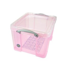 Really Useful Box Really Useful Box 35 liter, transparant roze [6st]