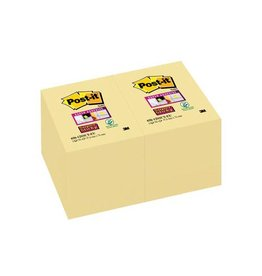 Post-it Post-it Super Sticky notes 47,6x76mm geel 90 vel, 12 blokken