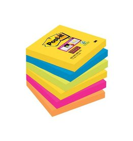 Post-it Post-it Super Sticky notes Rio, 76x76mm, 90 vel, 6 blokken
