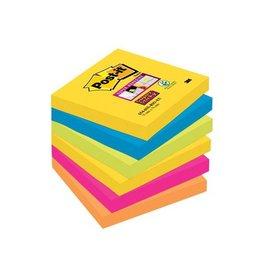 Post-it Post-it Super Sticky notes Rio,76x76mm,90vel,pak 6 blokken