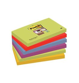 Post-it Post-it Super Sticky notes Marrakesh, 76x127mm, 90vel, 6bl