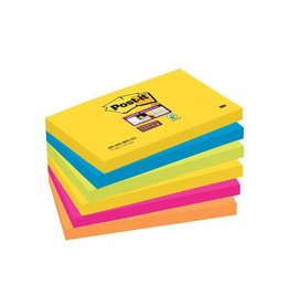 Post-it Post-it Super Sticky notes Rio, 76x127mm, 90 vel, 6 blokken