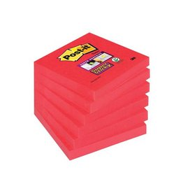 Post-it Post-it Super Sticky notes 76x76mm poppy rz. 90vel 6 blokken