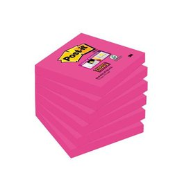 Post-it Post-it Super Sticky notes 76x76mm fuchsia 90vel 6 blokken