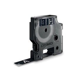 Dymo Dymo duurzame D1 tape 12 mm x 3 m, wit op zwart