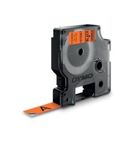 Dymo Dymo duurzame D1 tape 12 mm x 3, zwart op oranje