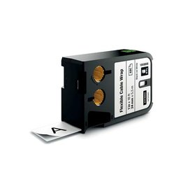 Dymo Dymo XTL tape 24 mm, zwart op wit, nylon