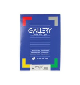 Gallery Gallery witte etik. 48,3x25,4mm ronde hoeken 4.400 etik.