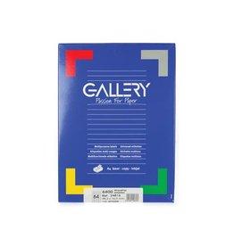Gallery Gallery witte etik. 48,3x16,9mm ronde hoeken 6.400 etik.