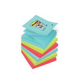 Post-it Post-it Super Sticky notes Miami,76x76mm,90vel,pak 6blokken