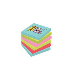 Post-it Post-it Super Sticky notes Miami, 76x76mm, 90vel, 6 blokken