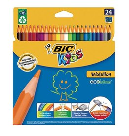 Bic Kids Bic Kids kleurpotlood Ecolutions Evolution, doos van 24st
