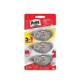 Pritt Pritt correctieroller Compact Flex 6mmx10m, blister 2+1