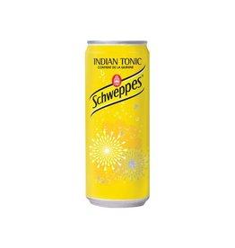 Schweppes Schweppes Indian Tonic frisdrank,blikje 33 cl,pak 24st