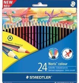 Staedtler Staedler kleurpotloden Noris Colour, ophang 24st in div. kl.