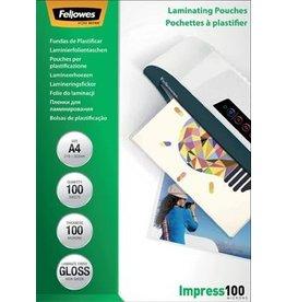 Fellowes Fellowes lamineerhoes Impress100 A4 200mic (2x100mic) 100st